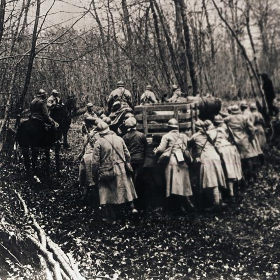 Soldiers in the woods, c1914-c1918-Unknown-Photographic Print