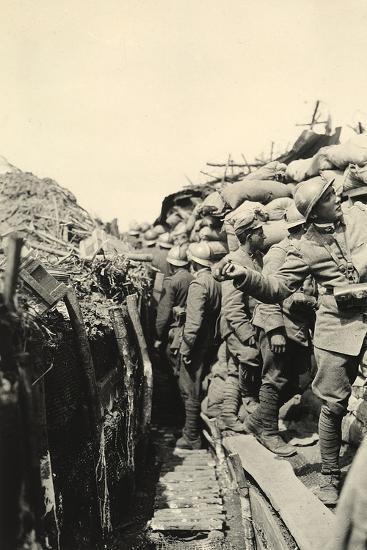 Soldiers in Trenches on Podgora During World War I-Ugo Ojetti-Photographic Print
