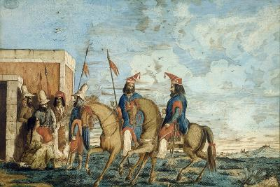 Soldiers of Oribe Army in Montevideo, 1844, Civil War, Uruguay--Giclee Print