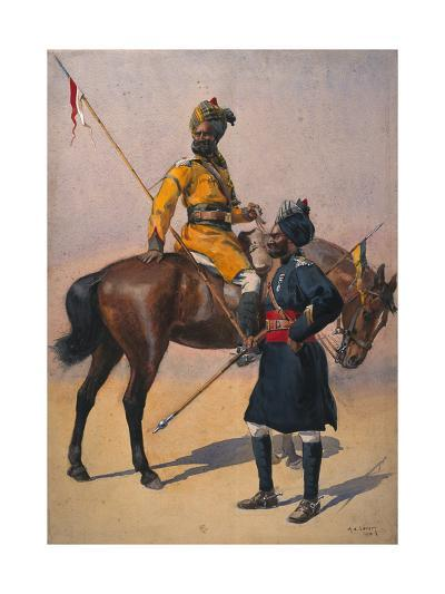 Soldiers of the 1st Duke of York's Own Lancers (Skinner's Horse) Hindustani Musalman and 3rd…-Alfred Crowdy Lovett-Giclee Print