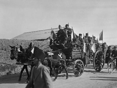 Soldiers of the French Foreign Legion Travelling by Wagon, Syria, 20th Century--Photographic Print