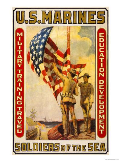 Soldiers of the Sea, Military Training Travel Education Development-Sidney Riesenberg-Art Print