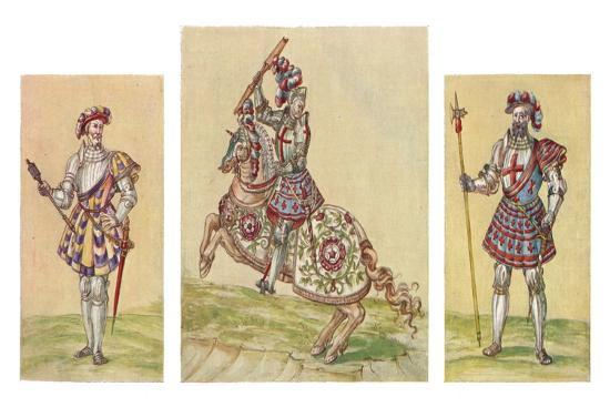 'Soldiers of the Tudor Period, c16th century, (1903)-Unknown-Giclee Print