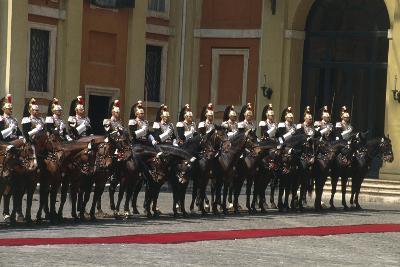 Soldiers on Horseback at Cuirassiers Gala--Giclee Print