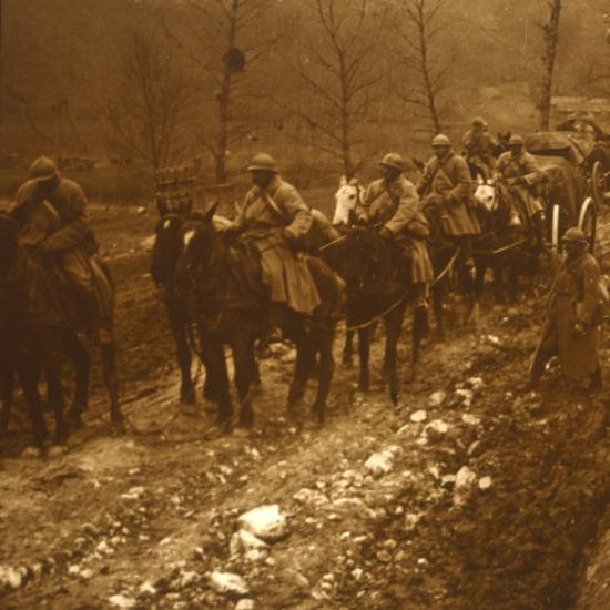 Soldiers on the move, c1914-c1918-Unknown-Photographic Print