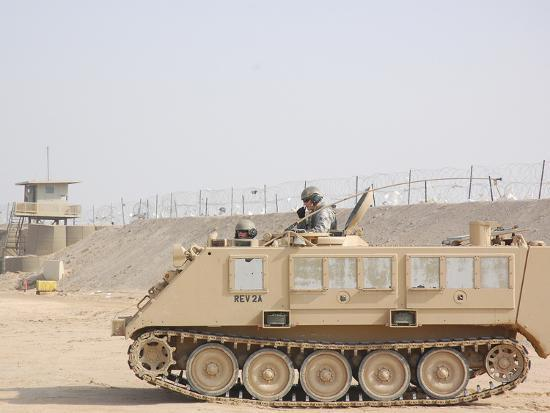 Soldiers Patrol in An M-113 Armored Personnel Carrier-Stocktrek Images-Photographic Print
