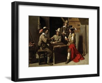 Soldiers Playing Cards-Louis Le Nain-Framed Giclee Print
