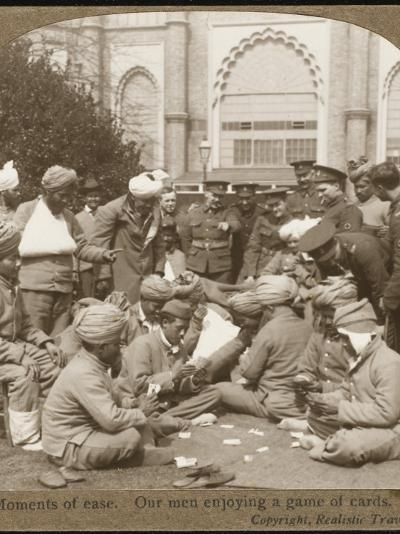 Soldiers Relaxing WWI--Photographic Print