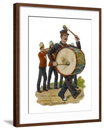 soldiers' with Cornet and Drum--Framed Giclee Print