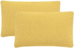 Soleil Solid Pillow Pair - Sunshine Yellow