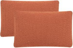 Soleil Solid Pillow Pair - Tropical Orange
