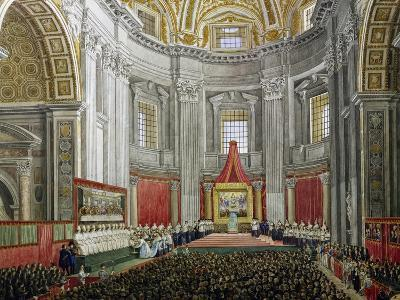 Solemn Celebration in Memory of Pope Pius IX, in St Peter's Basilica, Vatican City--Giclee Print