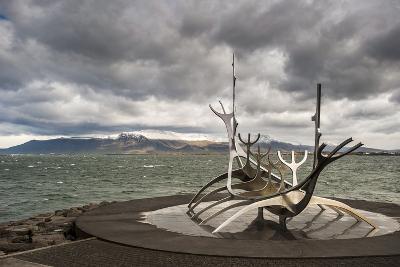 Solfar (Sun Voyager) Sculpture by Jon Gunnar Arnason in Reykjavik, Iceland, Polar Regions-Michael Snell-Photographic Print