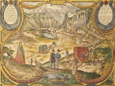 Solfatara at Campi Flegrei in Pozzuoli, Naples Province, Italy, from Civitates Orbis Terrarum--Giclee Print