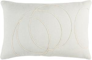 Solid Bold Down Fill Lumbar Pillow by Bobby Berk - Silver