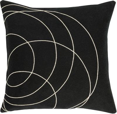 Solid Bold Down Fill Pillow by Bobby Berk - Black