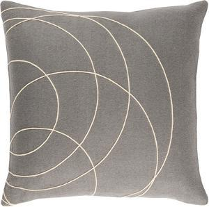 Solid Bold Down Fill Pillow by Bobby Berk - Grey
