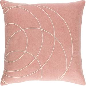 Solid Bold Down Fill Pillow by Bobby Berk - Peach