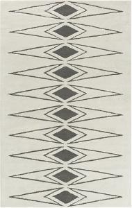 Solid Bold Grey Diamond Area Rug by Bobby Berk - 4' x 6'