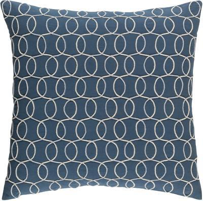 Solid Bold II Down Fill Pillow by Bobby Berk - Navy