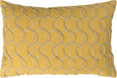 Solid Bold II Down Fill Pillow by Bobby Berk - Saffron