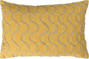 Solid Bold II Down Fill Pillow by Bobby Berk - Saffron