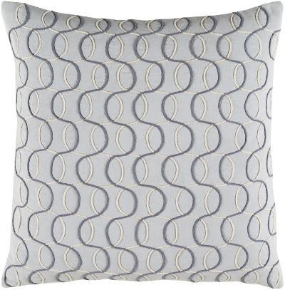 Solid Bold II Down Fill Pillow by Bobby Berk - Slate Grey--Home Accessories