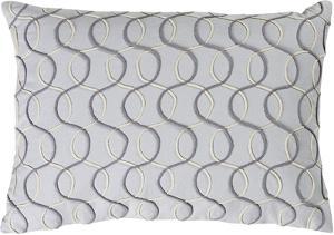 Solid Bold II Poly Fill Lumbar Pillow by Bobby Berk - Slate Grey