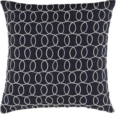 Solid Bold II Poly Fill Pillow by Bobby Berk - Black