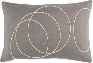 Solid Bold Lumbar Pillow Cover by Bobby Berk - Grey