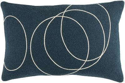 Solid Bold Lumbar Pillow Cover by Bobby Berk - Navy--Home Accessories