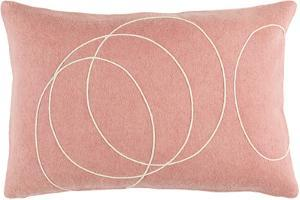 Solid Bold Lumbar Pillow Cover by Bobby Berk - Peach