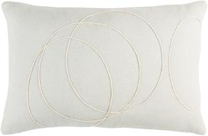 Solid Bold Lumbar Pillow Cover by Bobby Berk - Silver