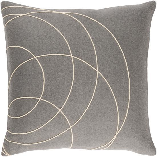 Solid Bold Pillow Cover by Bobby Berk - Grey--Home Accessories