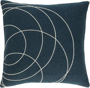 Solid Bold Pillow Cover by Bobby Berk - Navy