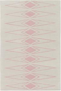 Solid Bold Pink Diamond Area Rug by Bobby Berk - 2' x 3'
