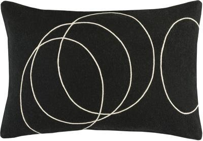 Solid Bold Poly Fill Lumbar Pillow by Bobby Berk - Black