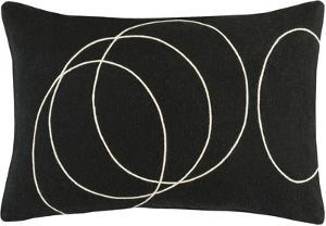 Solid Bold Poly Fill Lumbar Pillow by Bobby Berk - Black