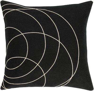 Solid Bold Poly Fill Pillow by Bobby Berk - Black--Home Accessories