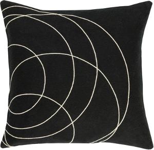 Solid Bold Poly Fill Pillow by Bobby Berk - Black