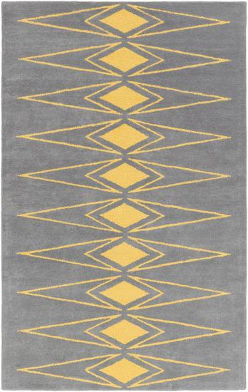 Solid Bold Yellow Diamond Area Rug by Bobby Berk - 2' x 3'--Home Accessories