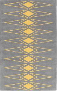 Solid Bold Yellow Diamond Area Rug by Bobby Berk - 2' x 3'