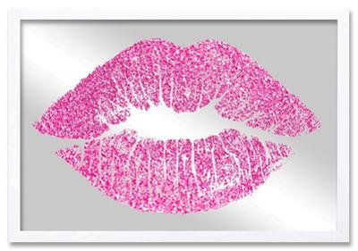 Solid Kiss Pink Glitter Mirror