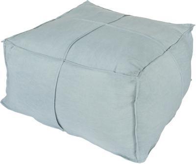 Solid Linen Pouf