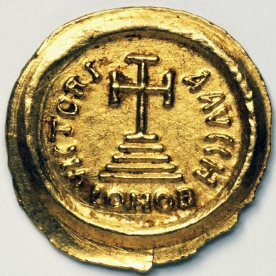 Solidus of Byzantine Emperor Heraclius, Byzantine Coins, 7th Century AD--Giclee Print
