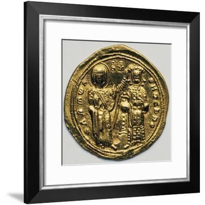 Solidus of Byzantine Emperor Romanos III Argyros, Verso, 1028-1034, Byzantine Coins, 11th Century--Framed Giclee Print
