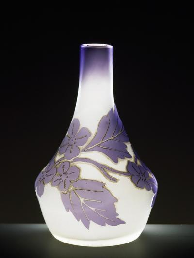 Soliflore Milk Glass Vase in Soft Purple with Cameo Engravings, 1910-1919--Giclee Print