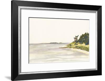 Solitary Coastline I-Dianne Miller-Framed Art Print