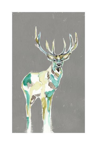 Solitary Deer I-Jennifer Goldberger-Art Print