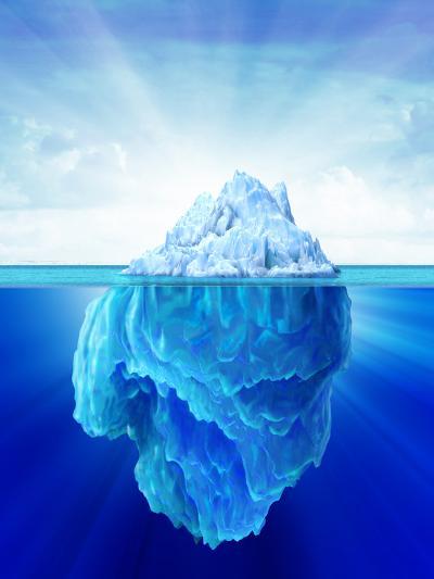 Solitary Iceberg in the Sea-Stocktrek Images-Photographic Print